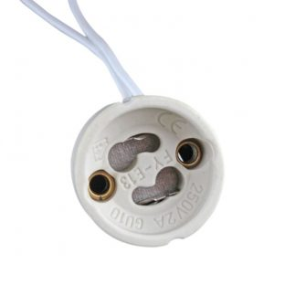 Connector for GU10 LED spotlight with 15cm wires