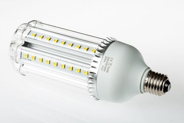 12 Watt cool white LED corn bulb with frosted cover