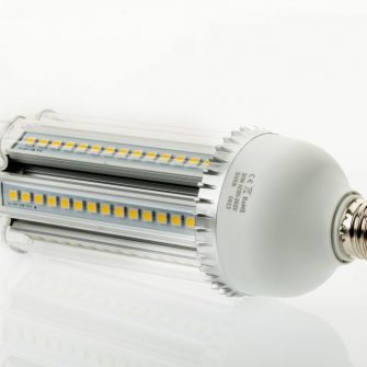 23 Watt cool white LED corn bulb with frosted cover