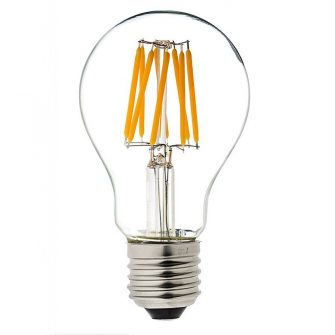 6 Watt cool white (6000K) dimmable 360°° A60 E27 LED filament of ø6*10.8cm