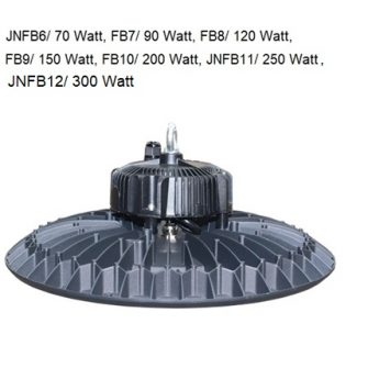 250 Watt cool white  LED high bay lamp flat bay model (IP65) with 72°x72°° integrated reflector